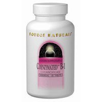 Coenzymated B-1 Sublingual, 25 MG, 30 Tabs by Source Naturals (Pack of 4)