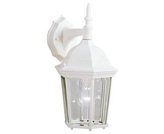 Kichler 9650WH Madison Outdoor Wall 1-Light, White by KICHLER (Image #1)