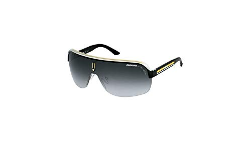 Carrera Topcar 1  Unisex Shield Sunglasses,Black Crystal Yellow Frame/Gray Gradient Lens,one size