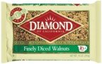 Diamond of California Finely Diced Walnuts 10 oz (Pack of 24)