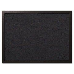 Designer Fabric Bulletin Board (MasterVision Designer Fabric Bulletin Board, 24X18, Black Fabric/Black Frame)