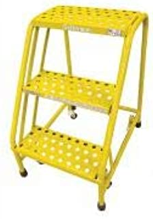 product image for Cotterman 1003N1820A6E10B3C2P1 - Rolling Ladder Steel 30In. H. Yellow