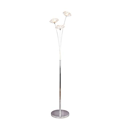 Crystal Bouquet Floor Lamp Nordic Style Wrought Iron Floor Lamp Creative European Living Room Bedroom Bedside Table Lamp (Color : 3 heads)