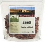 Woodstock Farms All Natural Whole Roasted and Salted Almond, 7.5 Ounce - 8 per case.
