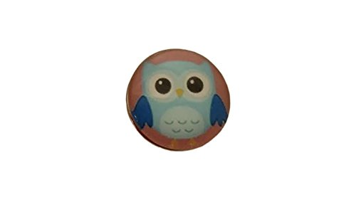 Snap Charming Light Blue Owl Interchangeable Jewelry Snap -