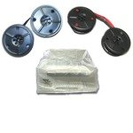 Universal Portable Typewriter Ribbons and Dust Cover Package by EBS Hard to Find Office Supplies