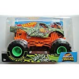 Hot Wheels MONSTER JAM 1:24 SCALE, 2018 RELEASE GREEN SPLATTER TIME WITH GIANT WHEELS