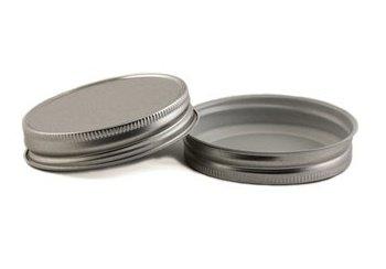 Nakpunar 12 pcs Silver Mason Jar -