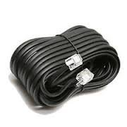 Permo 100 Feet Black Telephone Extension Cord Cable Line Wire
