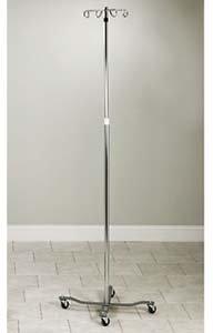 Adjustable Economy 4-Leg, 4-Hook Twist Lock IV Pole by Clinton (Image #1)
