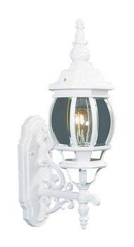 Livex Lighting 7520-03 Frontenac - One Light Exterior Lantern, White Finish with Clear Beveled Glass