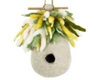 DZI Handmade Designs DZI484006 Hermit Hut Felt Birdhouse