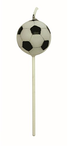 PME CA012 Football (USA Soccer) Candles Set of 4, Standard White -
