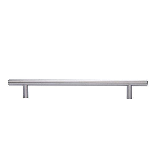 AmazonBasics Euro Bar Cabinet Handle (1/2'' Diameter), 15'' Length (12.63'' Hole Center), Satin Nickel, 10-Pack by AmazonBasics (Image #6)