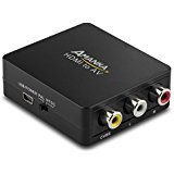 HDMI to RCA, Amanka 1080P HDMI to AV 3RCA CVBs Composite Video Audio Converter Adapter Supporting PAL/NTSC with USB Charge Cable