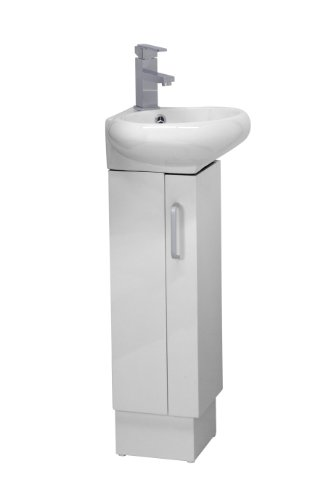 CORNER BATHROOM VANITY SET - MILAN - WHITE by FINE FIXTURES
