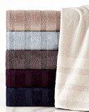 UPC 079465959277, WestPoint Home Portico Strada Stripe Bath Towel, Plum Perfect
