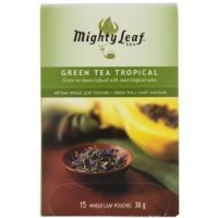 15 Count Pouch (Mighty Leaf Tea Green Tea Tropical, 15 Count Whole Leaf Pouches 1.32 Ounce)