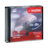 Imation Corp 5PK CDRW 700MB 80MIN-4X 10X W/ JC ( 16950 )