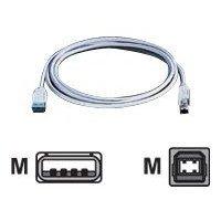 USB 2.0 A/B Kabel grau 3m