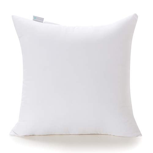 Acanva Decorative Throw Pillow Inserts Hypoallergenic Square Form Stuffer Cushion Sham Filler, 26x26, White (X 26 26 Pillow Form)