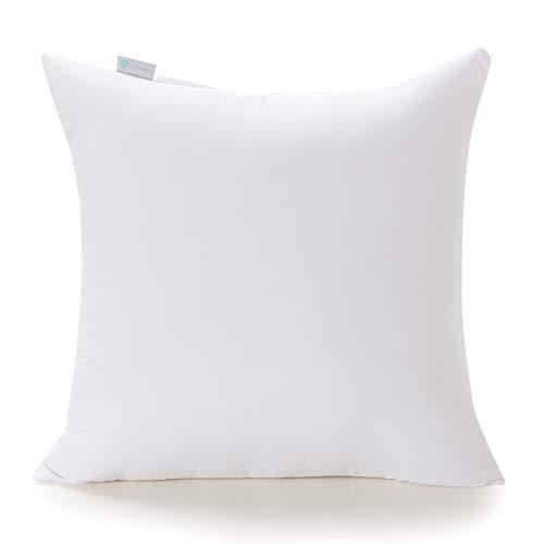 Acanva Decorative Throw Pillow Inserts Hypoallergenic Square Form Stuffer Cushion Sham Filler, 26x26, White
