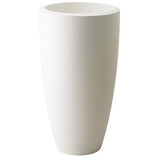 """27.5"""" Tall Cone Planter by Fox & Fern - Lightweight - Perfect for Outdoor and Indoor Use - Matte White"""