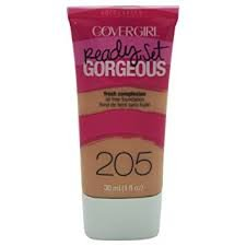 CoverGirl Ready, Set Gorgeous Liquid Makeup Foundation, Natural Beige 205 1 fl oz (Pack of 3)