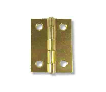 Bright Brass Plated Heavy Butt Hinge 2