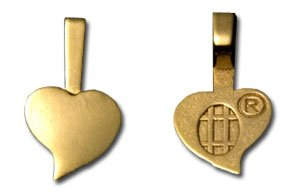 25 Pack Large 18k Gold Plated Jewelry Heart Bails