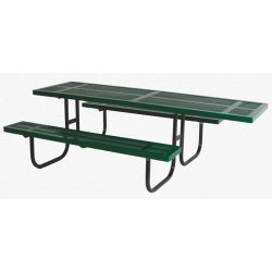 (Sports Play 602-670 Wheelchair Accessible Rectangular Picnic Table 2 3/8-8 Rolled Edge Perforated)