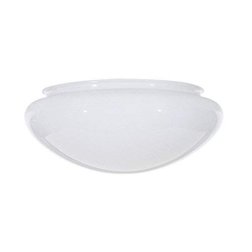 White Mushroom Glass Shade - 7-7/8-Inch Fitter Opening by Satco (Image #1)