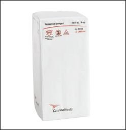 Non-Woven All-Purpose Sponges 4 x 4, 4-ply, Non-Sterile, Latex-Free. Replaces ZG4404NS (4 Bags of (All Purpose Burn Dressing Sterile)