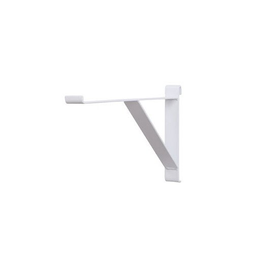 Box of 8 New Retails White 12'' Long Contemporary Shelf Bracket For Grid by Shelf Brackets