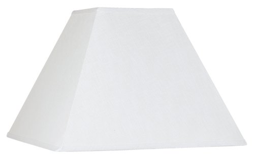 Shade Brentwood Collection - White Linen Square Lamp Shade 7x17x13 (Spider)