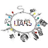 New Horizons Production Pretty Little Liars TV Series Assorted Metal Charms Bracelet]()