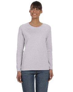 Gildan Heavy Cotton Ladies Missy Fit Long-Sleeve T-Shirt, Medium, Sport Grey