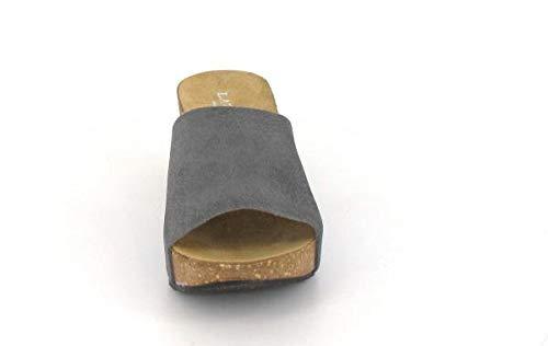 Wedge Lazamani Pantolette Grau Mules Farbe Ladies q77TtBxY