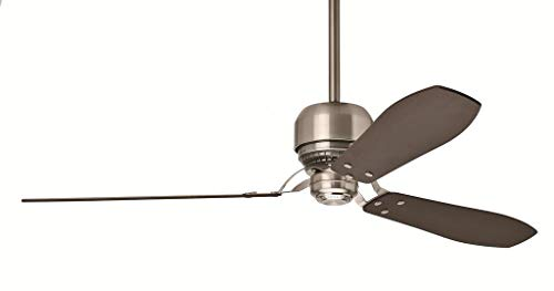 Casablanca 59504 Tribeca 60-Inch 3-Blade Ceiling Fan with Reversible Walnut/Burnt Walnut Blades and Included Remote, Brushed Nickel