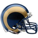 St Louis Rams unsigned riddell mini helmet Memorabilia Lane & Promotions by Memorabilia Lane & Promotions