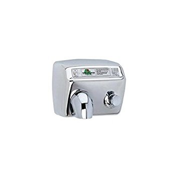 (A-Series World Dryer DA5-973 Push Button Hand Dryer, Brushed Stainless Steel, 115V)