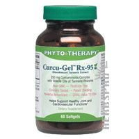 Curcu-Gel Rx 95 60 SoftGels by Phyto Therapy / 60 SoftGels ( Multi-Pack) by Phyto-Therapy (Image #1)