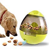 Dream-C Pet Food Ball Dog Food Dispensing Toys, Treat Ball Kibble Dispensing Leakage Chew Toys, Slow Feeder Tumbler Balls Training Puzzle Shaking Toys for Dogs Puppy & Cats (Green)