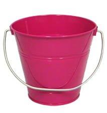 Pink Tin (6 pack Metal Bucket, Hot Pink 7.5 x 7.5