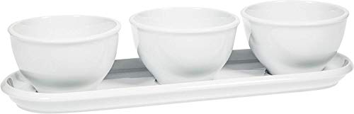 White Condiment Server - Porcelain Relish Dish,