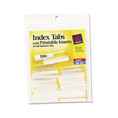 Hanging File Printable Adhesive Tabs (AVE16230 - Avery Self-Adhesive Tabs with Printable Inserts)