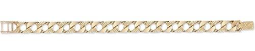 Or 9ct Uni Lézard & Bracelet En Chaîne gourmette 21,6cm