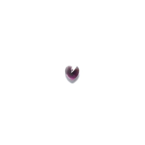 Swarovski 6228 Top Hole Heart Beads, Transparent, Amethyst Blend, 10mm, 6 Per Pack ()