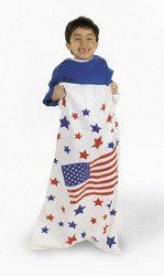 6 pcs USA FLAG/PATRIOTIC Potato SACK RACE GAME/Red White Blue/4th of JULY PARTY GAME -