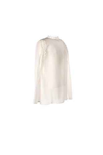 PINKO Blusa Donna 46 Bianco Propenso Primavera Estate 2017